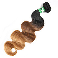 Emberi haj Perui haj Ombre Hullámos haj Póthajak 1 darab Fekete / Medium BROWN / Strawberry Blonde