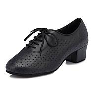 Kadın Dans Sneakerları Yapay Deri Spor Ayakkabı Profesyonel Stiletto Topuk Siyah 5 - 6,2 cm Kişiselleştirilmiş