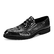 Men's Wedding Shoes Formal Shoes Cowhide Leather Canvas Spring Fall Wedding Casual Office & Career Formal Shoes Burgundy Black Under 1in