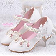 Para Meninas Rasos Conforto Sapatos para Daminhas de Honra Courino Verão Outono Casual Social Conforto Sapatos para Daminhas de Honra
