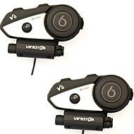 Motercykel Bluetooth Headsets USB Port