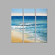 Ručně malované Krajina Vertikální,umělecké Tři panely Plátno Hang-malované olejomalba For Home dekorace