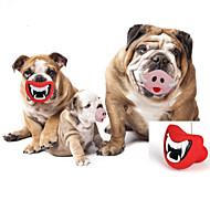 Hondenspeeltje Huisdierspeeltjes kauwspeeltjes Lippen Rubber Rood Roze