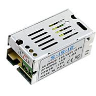 Hkv® 1pcs mini tamanho levou a fonte de alimentação de comutação 12v 1.25a 15w transformador de energia adaptador de energia ac100v 110v