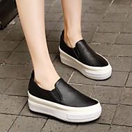 Dames Platte schoenen Comfortabel PU Zomer Causaal Platte hak Wit Zwart Roze Plat