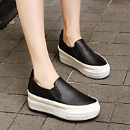 Damen Flache Schuhe Komfort PU Sommer Normal Flacher Absatz Weiß Schwarz Rosa Flach