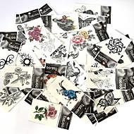 Tatouages Autocollants Séries animales Séries de fleur Séries de totem Dessins Animés Série romantique Motif Bas du Dos Imperméable Homme