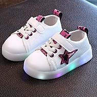Jungen Sneaker Leuchtende LED-Schuhe TPU Kunstleder Sommer Herbst Normal LED Niedriger Absatz Purpur Gelb Grün Unter 2,5 cm