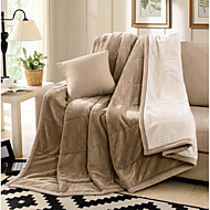 Super Soft Solid Wool/Cotton Blankets