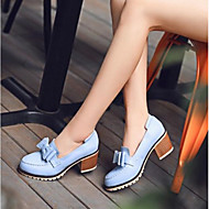 Women's Shoes PU Summer Comfort Heels With For Casual White Blue Blushing Pink