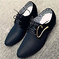 Men's Shoes PU Summer Comfort Oxfords For Casual White Black