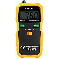 hyelec ms6501 nagy LCD kijelző digitális hőmérő K típusú hőelem termometro adatokkal tartsa / naplózás