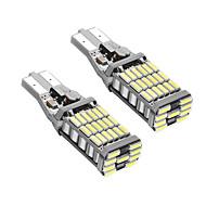 1 쌍 t15 캔 버스 오류 무료 led가 drl t15 w16w led 백업 빛 흰색 색
