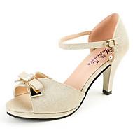 レディース 靴 PUレザー 夏 コンフォートシューズ ヒール 用途 カジュアル ゴールド グリーン ピンク