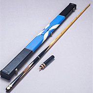 Três quartas-de duas peças Cue Cue Sticks & Acessórios Sinuca Inglês Bilhar Cinza Ébano