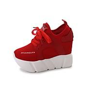 Damen Sneaker Walking Komfort Polyurethan Frühling Herbst Normal Kombination Plateau Schwarz Rot 5 - 7 cm