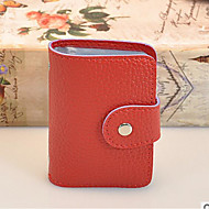 Damen Taschen Ganzjährig PVC Bankkarten & Ausweis Tasche mit für Normal Rote
