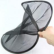 Ronde vormbare opvouwbare zwarte meshachtige auto achterruit zonneschermschild (2 stuks