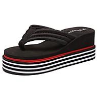 Γυναικείο Παντόφλες & flip-flops Παντόφλες και σαγιονάρες Φθινόπωρο Χειμώνας PU Causal Επίπεδο Τακούνι Λευκό Μαύρο Κόκκινο Επίπεδο