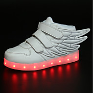 Girls' Sneakers Comfort Novelty Light Up Shoes Fall Winter Synthetic Microfiber PU Casual Outdoor Flat Heel White Black Blue Blushing