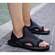 Herren Sandalen Komfort Tüll Sommer Normal Weiß Schwarz Unter 2,5 cm