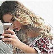 Γυναικείο Συνθετικές Περούκες Χωρίς κάλυμμα Μακρύ Κυματομορφή Σώματος Ξανθό Μαλλιά με ανταύγειες Φυσική περούκα φορεσιά περούκες