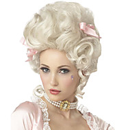 White Blonde Wigs Marie Antoinette Princess Wig for Halloween Costume