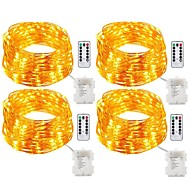 12W Guirlandes Lumineuses 200 lm <5V V 20 m 200 diodes électroluminescentes Blanc chaud Blanc Plusieurs Couleurs