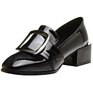 Damen Loafers & Slip-Ons Komfort Pumps formale Schuhe Echtes Leder Leder Herbst Winter Kleid Party & Festivität Schnalle Blockabsatz