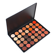 35O Colored Nature Glow Eyeshadow Palette Highlight Metalic Pigment Shimmery & Matte Wearable Warm Blending Cosmetic Set