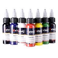 7 × 30 ml Variété Couleurs Encres de tatouage classique Pigment de tatouage Jeu de couleurs couleurs de maquillage
