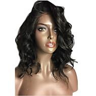 Femei Peruci Păr Uman Păr Natural Față din Dantelă Tresă Față Fără Lipici 150% Densitate Ondulat Ondulee Naturale Perucă Negru Scurt Mediu