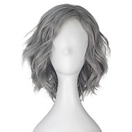 Men Synthetic Wig Capless Short Loose Wave Grey Lolita Wig Party Wig Halloween Wig Carnival Wig Cosplay Wig Natural Wigs Costume Wigs