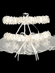 Garter Satin Beading Ribbon White