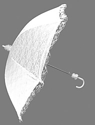 "Wedding Lace Umbrella Hook Handle White 29.5""(Approx.75cm) Plastic 35.4""(Approx.90cm)"