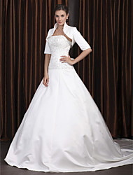 Lanting Bride® A-line Petite / Plus Sizes Wedding Dress - Classic & Timeless / Elegant & LuxuriousWedding Dresses With Wrap / Two-In-One