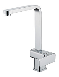 Chrome Finish Solid Brass Kitchen Faucet