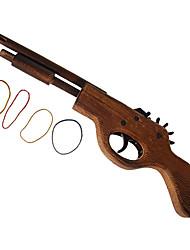 Pistola Clássica Multi-Tiros de Borracha (Brinquedo)