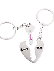 Stainless Lovers keychains (Key And Heart/ 2-Piece Set)