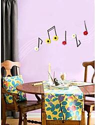 Декоративные наклейки стены, в виде музыкальных нот