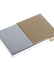 moda de metal cartão de visita caso (cores sortidas)