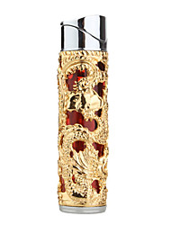 Chinese Dragons Butane Lighter with LED Light Effects