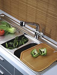 zeitgenössische Messing herausziehen Küchenarmatur - verchromt