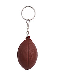 Key Chain Rugby Classic & Timeless Key Chain / Flexible Brown Plastic
