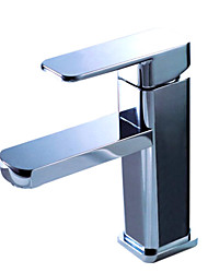 Brass Bathroom Sink Faucet - Chrome Finish