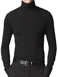 Men's Fit Style Long Sleeve Turtleneck Cashmere Sweater