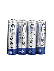 4 x AA 2500mAh Ni-MH BTY 2500 Rechargeable Batteries (BTY(2500))