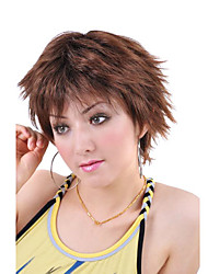 Capless Short High Quality Synthetic   Nature Look Golden Brown Straight Hair Wig