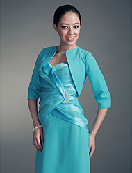 Wedding  Wraps Coats/Jackets Half-Sleeve Chiffon Pool Party/Evening / Office & Career Open Front