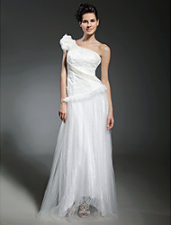 A-line One Shoulder Floor-length Tulle Evening/Prom Dress inspired by Kirsten Dunst